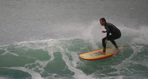 a surfer up at gonubie point...